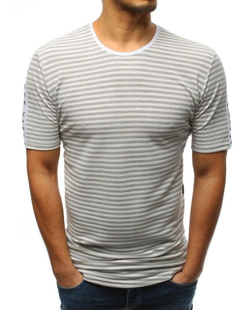 Šedé pánské tričko RX3192 s potiskem