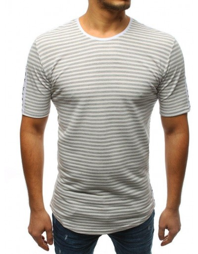 T-shirt męski z nadrukiem szary RX3192