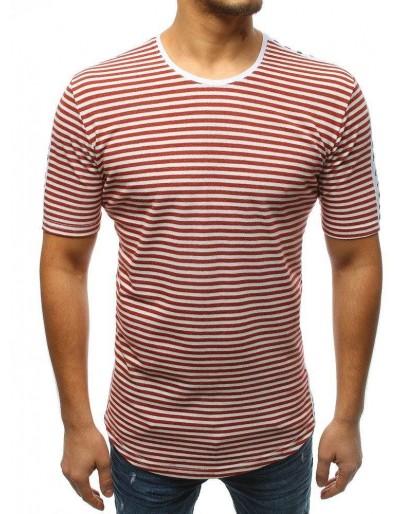 T-shirt męski z nadrukiem bordowy RX3194