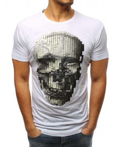 Bílé pánské tričko RX3201 s potiskem