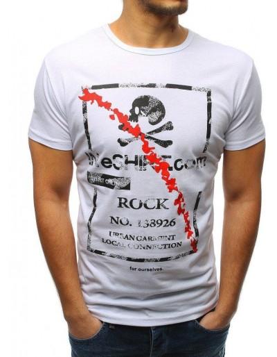 Bílé pánské tričko RX3210 s potiskem