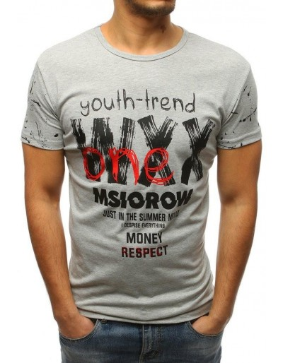 Šedé pánské tričko RX3220 s potiskem