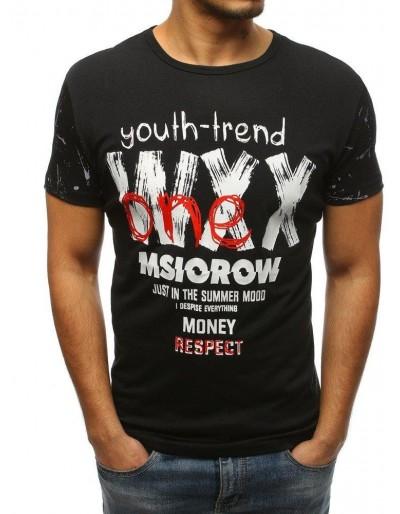 Černé pánské tričko RX3221 s potiskem