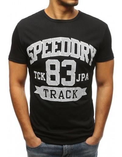 Černé pánské tričko RX3224 s potiskem
