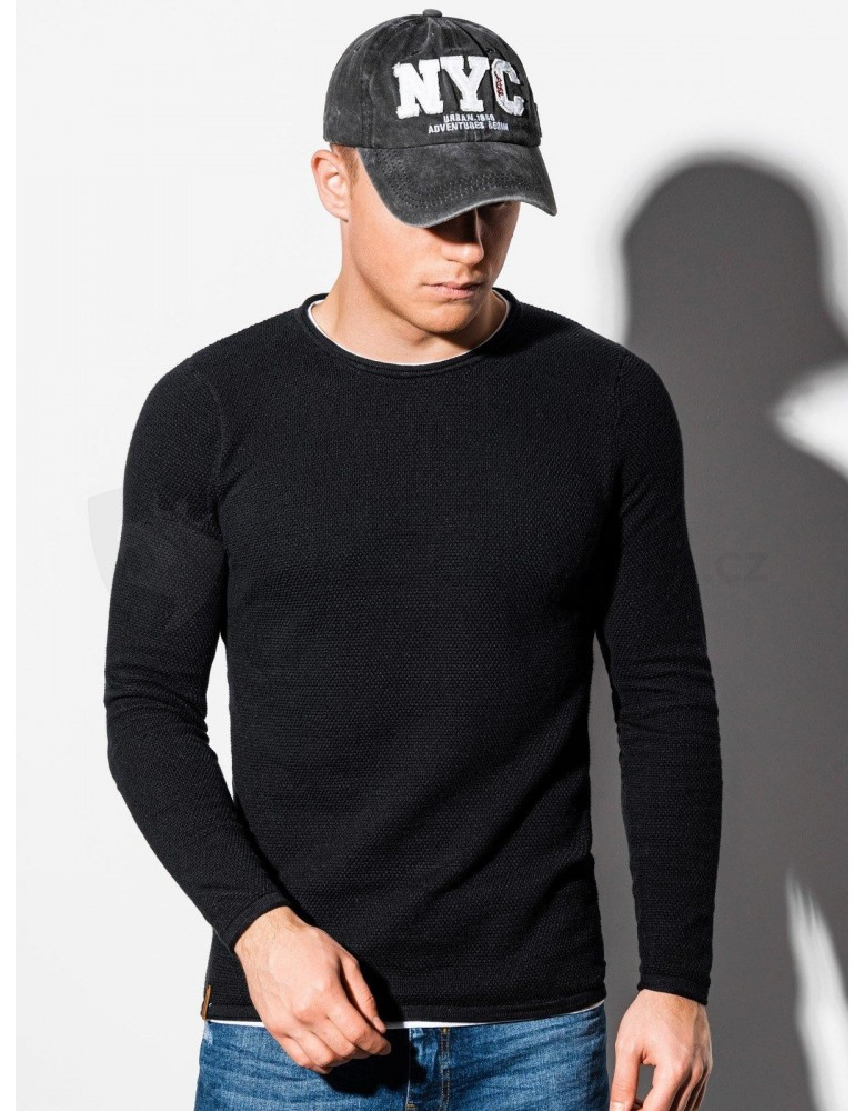Pánský svetr E121 - černý