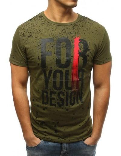 Zelené pánské tričko s potiskem RX3229