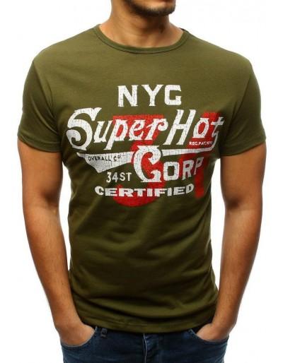 Zelené pánské tričko s potiskem RX3253