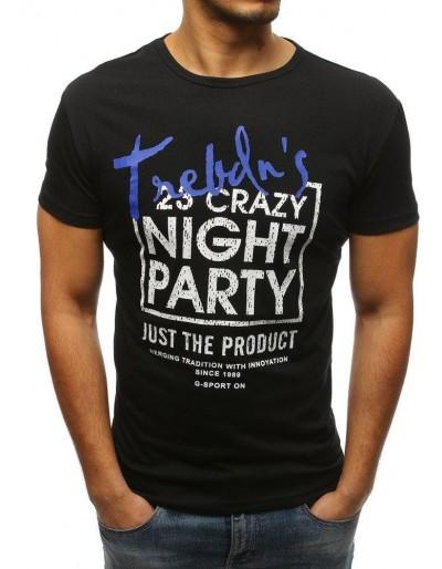 Černé pánské tričko RX3257 s potiskem