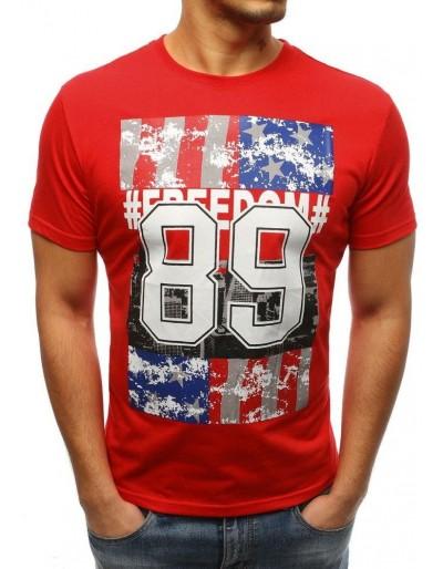 Červené pánské tričko RX3262 s potiskem