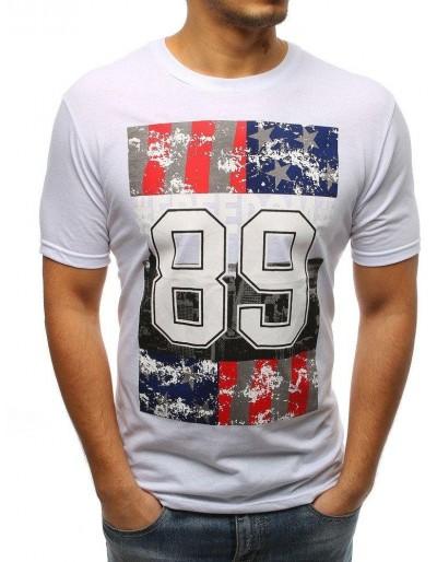 Bílé pánské tričko RX3264 s potiskem