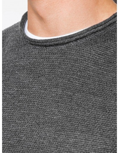 Men's sweater E121 - dark grey/melange