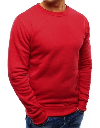 Červená pánská mikina bez kapuce BX3867