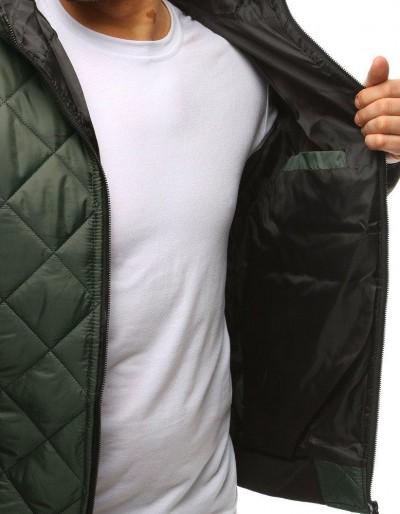 Kurtka męska przejściowa pikowana zielona TX2600