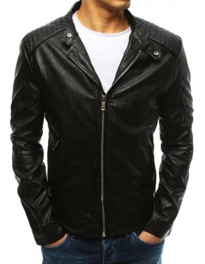 Černá pánská kožená bunda TX2627