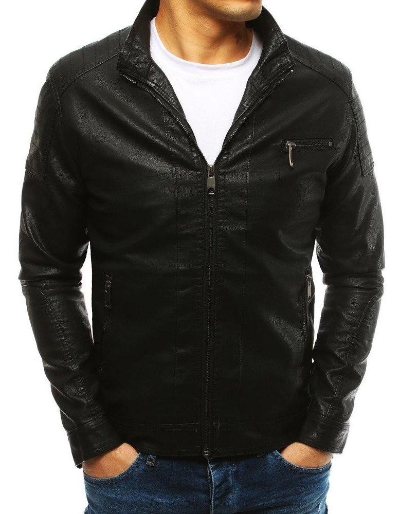 Černá pánská kožená bunda TX2631
