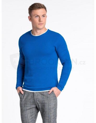 Pánský svetr E121 - modrý