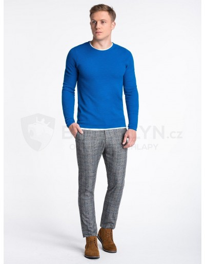 Men's sweater E121 - blue