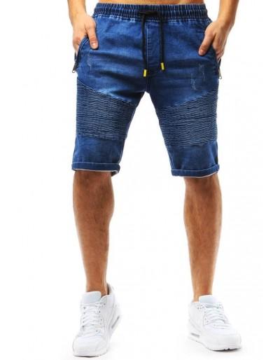 Pánské modré džínové kraťasy SX0754