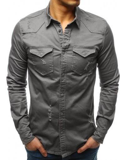 Šedá pánská košile DX1723