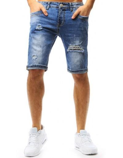 Pánské modré džínové kraťasy SX0757