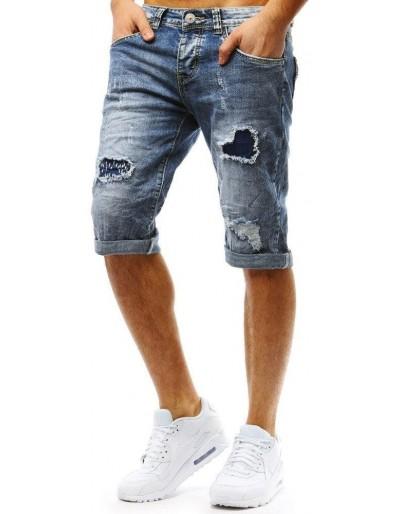 Spodenki męskie jeansowe niebieskie SX0762