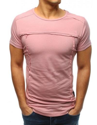 Pánské hladké růžové tričko RX3362