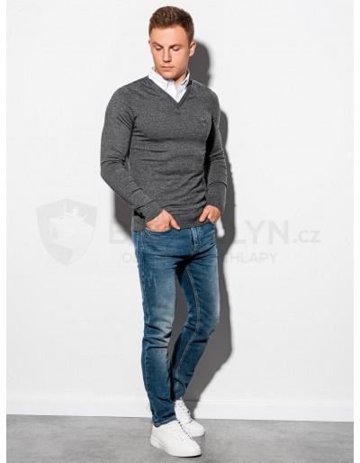 Men's sweater E120 - dark grey/melange