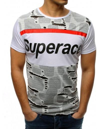 Bílé pánské tričko RX3364 s potiskem