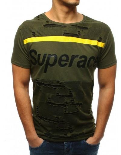 Zelené pánské tričko s potiskem RX3365