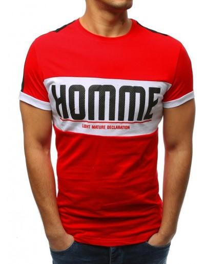Červené pánské tričko RX3374 s potiskem