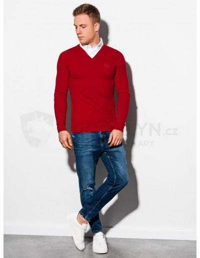 Men's sweater E120 - red