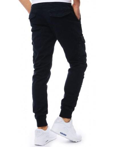Tmavě modré pánské jogger kalhoty UX1826