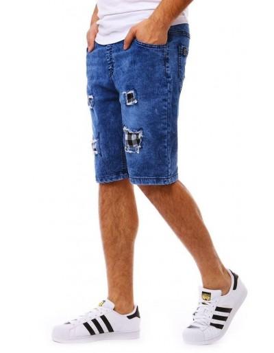 Pánské modré džínové kraťasy SX0772