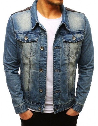 Pánská modrá džínová bunda TX2645