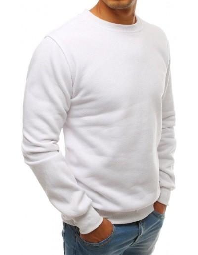 Bílá pánská mikina bez kapuce BX3905
