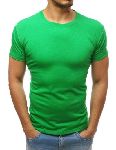 T-shirt męski bez nadruku zielony RX3413
