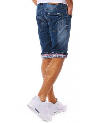 Spodenki jeansowe męskie niebieskie SX0778