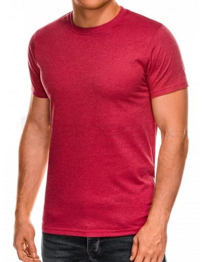 Pánské obyčejné tričko S884 - červená melanž