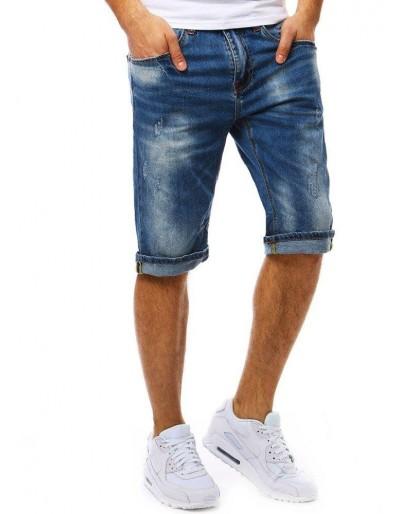 Spodenki jeansowe męskie niebieskie SX0782