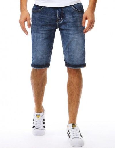 Spodenki jeansowe męskie niebieskie SX0783