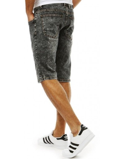 Spodenki jeansowe męskie czarne SX0786