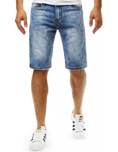 Pánské modré džínové kraťasy SX0788