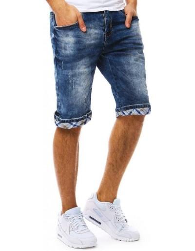 Spodenki jeansowe męskie niebieskie SX0802