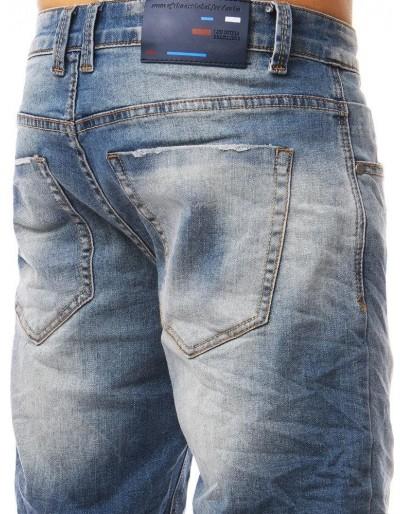 Spodenki jeansowe męskie niebieskie SX0803