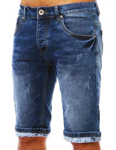 Spodenki jeansowe męskie niebieskie SX0804