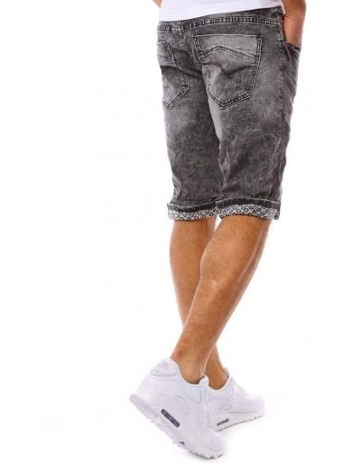 Spodenki jeansowe męskie czarne SX0813