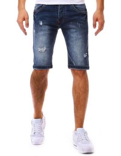 Spodenki jeansowe męskie granatowe SX0815