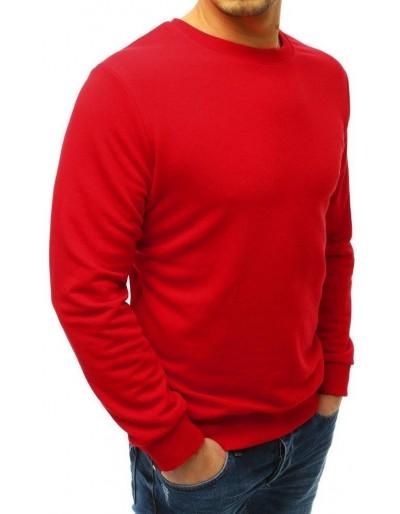 Červená pánská mikina bez kapuce BX3908