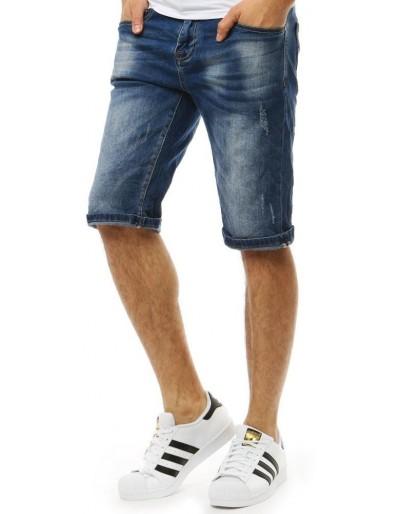 Spodenki jeansowe męskie niebieskie SX0822