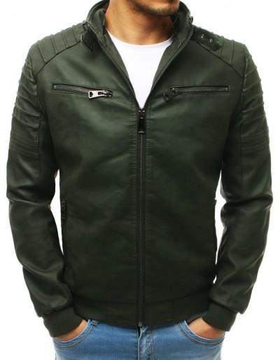 Zelená pánská kožená bunda TX2654